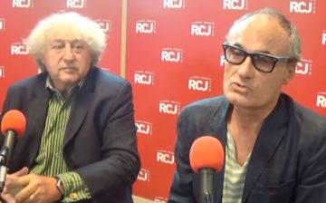 Philippe Val au micro de M.Wolkowicz de « Schibboleth » et J.Birenbaum de RCJ